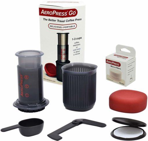 Cafetera AeroPress GO + 350 filtros + Accesorios